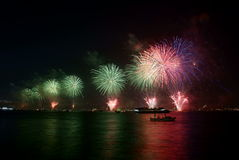 Fireworks -3. Colourful fireworks from the Istanbul Bosphorus Royalty Free Stock Images