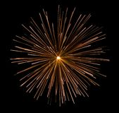 Fireworks. A picture of a beautiful firework bursting across the night sky Stock Images