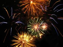 Fireworks. Colorful fireworks festival in the night Stock Image