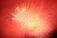 Fireworks. Blowing in the sky at night stock photos