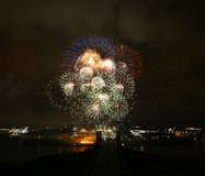 Fireworks. Colourful fireworks in Malaysia's Putrajaya Stock Photos