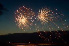 Fireworks. At the sea (Scheveningen 2007 stock photography