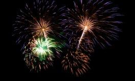 Fireworks. New Year Fireworks (Scheveningen 2007 stock photos
