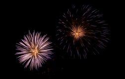 Fireworks. New Year Fireworks (Scheveningen 2007 royalty free stock photo