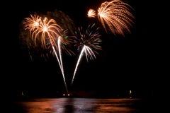 Fireworks. At the sea (Scheveningen 2007 royalty free stock photo