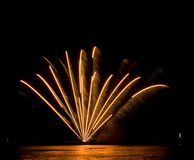 Fireworks. At the sea (Scheveningen 2007 royalty free stock image