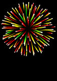 Fireworks. Bright coloured fireworks on a black background Stock Photo
