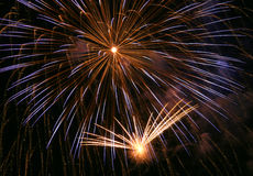 Fireworks. A fireworks display, double boom Royalty Free Stock Images