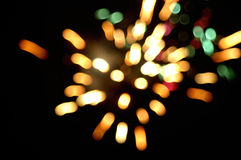 Fireworks. On a holiday night. blur image colors motion holidays winter christmas Stock Images