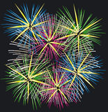 Fireworks. Illustration of Fireworks - Vector Format Royalty Free Stock Image