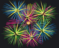 Fireworks. Illustration of Fireworks - Vector Format Royalty Free Stock Photography