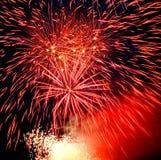 Fireworks. Celebratory firework. Festival of fireworks in sky Stock Photos