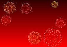 Fireworks. Abstract Vector illustration of fireworks Royalty Free Stock Photography
