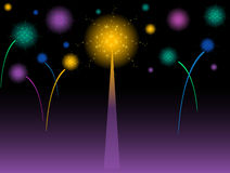 Fireworks. Colorful Exploding fireworks in the sky Royalty Free Stock Image