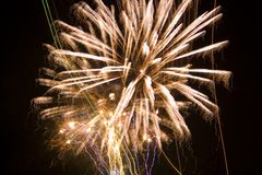 Fireworks. Long exposure stock images