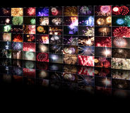 Fireworks 3D wall (Merce 2009) Stock Images