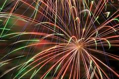 Fireworks. Detail of a colorful firework Royalty Free Stock Photos