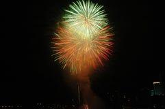Fireworks. At Marina Bay, Singapore Royalty Free Stock Image