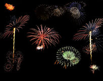 Fireworks. Background image of general fireworks types Royalty Free Stock Photography