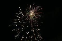 Fireworks. White fireworks on black background Royalty Free Stock Images