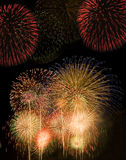 Fireworks. Beautiful fireworks display at night Stock Photos