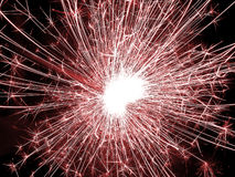 Fireworks. Red fireworks vector illustration