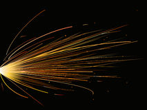 Fireworks. Bright fireworks like molten steel  in black background Royalty Free Stock Photography