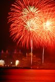 Fireworks. A fireworks in Xinghai Square ,Dalian City ,Chian Royalty Free Stock Photo
