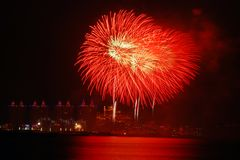 Fireworks. A fireworks in Xinghai Square ,Dalian City ,China Royalty Free Stock Photos