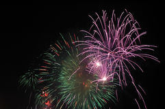 Fireworks. Colorful and beautiful fireworks at night Stock Image