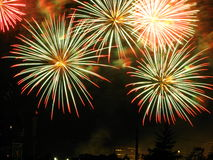Fireworks. Picture of the fireworks competition at Montreal, Canada Royalty Free Stock Images