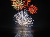 Fireworks. Picture of the fireworks competition at Boucherville stock images