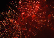Fireworks. A fireworks is in nightly sky Royalty Free Stock Images