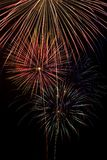 Fireworks. Long exposure closeup of a multiple fireworks explosions Stock Images