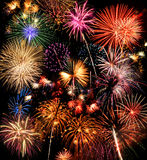 Fireworks. Colorful fireworks over a night sky - EXTRA LARGE stock photos