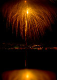 Fireworks 6. Palm tree Fireworks Royalty Free Stock Photography