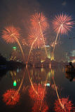 Fireworks. A beautiful display of fireworks royalty free stock photos