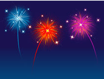 Fireworks. Beautiful bright fireworks lighting up the sky Royalty Free Stock Photos
