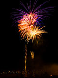 Fireworks. Vibrant colors on black. Fireworks series Stock Image