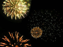 Fireworks. Burned slow to create this effect royalty free stock images
