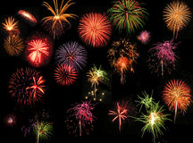 Fireworks. A photo of a large display of fireworks stock photo