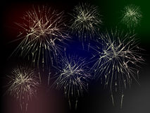 Fireworks. Colorful Fireworks abstract background vector illustration Stock Image