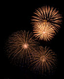 Fireworks. Stars in black sky. Merry Christmas Stock Photography