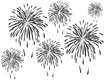 Fireworks. On white background vector illustration royalty free illustration