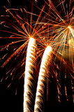 Fireworks. Independence Day celebration fireworks explosion on the night sky Royalty Free Stock Photo