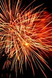 Fireworks. Independence Day celebration fireworks explosion on the night sky Stock Photography
