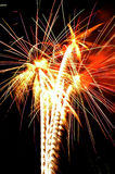 Fireworks. Independence Day celebration fireworks explosion on the night sky Royalty Free Stock Image