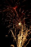 Fireworks. Independence Day celebration fireworks explosion on the night sky Stock Image