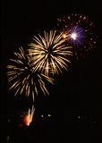 Fireworks. On whitsun in the historical town Wissembourg - Alsace - France Stock Image