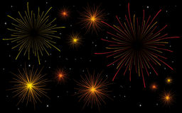 Fireworks. Vector eps format included vector illustration